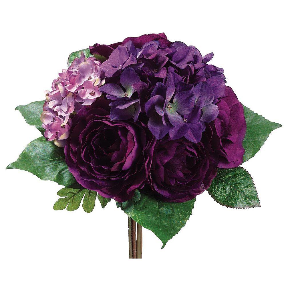 Purple Hydrangea Destination Wedding Bouquet Silk Wedding Flowers