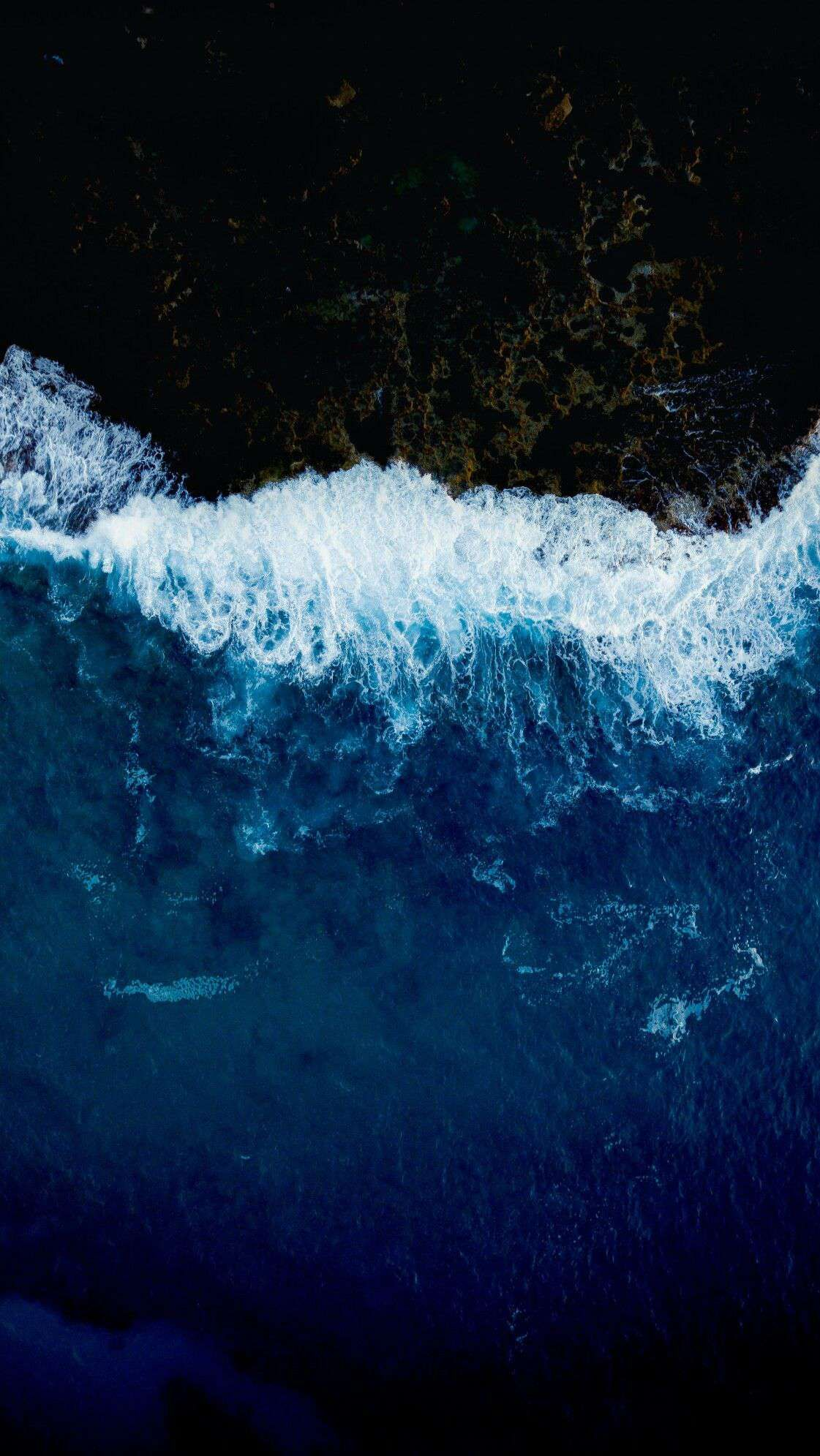 Blue Water Nature Ocean iPhone Wallpaper from iphoneswallpapers.com