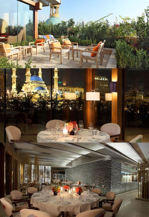 Indigo This Chic And Beautifully Designed Restaurant Located On Le Gray S Roof Boasts Spectacular Views Of Beirut An With Images Al Fresco Dining Restaurant Alfresco