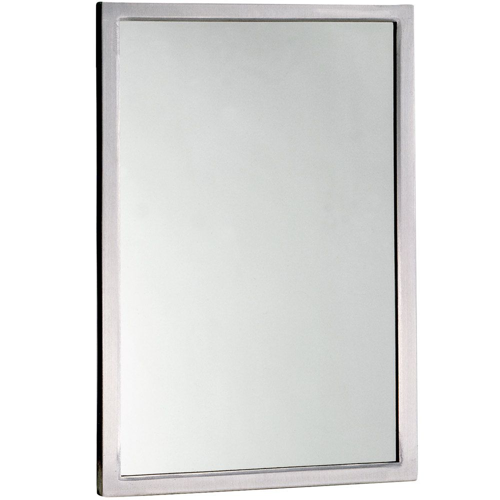 Bobrick B 290 2448 24 X 48 Wall Mounted Mirror With Stainless