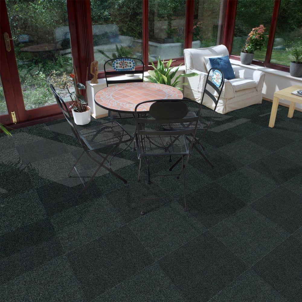 Foss Peel And Stick Hobnail Gunmetal Texture 18 In X 18 In Residential Carpet Tile 16 Tiles Case Cn14n4716pks The Home Depot Outdoor Carpet Indoor Outdoor Carpet Carpet Tiles