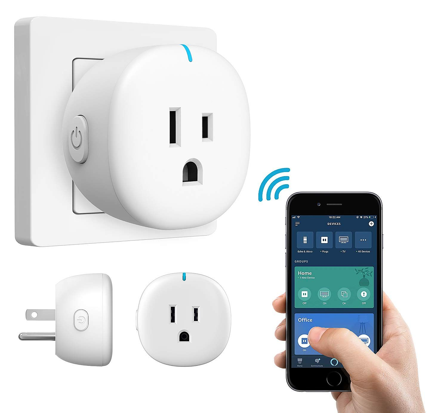 Moko Wifi Smart Plug Mini Wifi Outlet Mini Socket Compatible With Alexa Echo Click Image For More Details This Is An Af In 2020 Smart Plug App Remote Alexa Echo