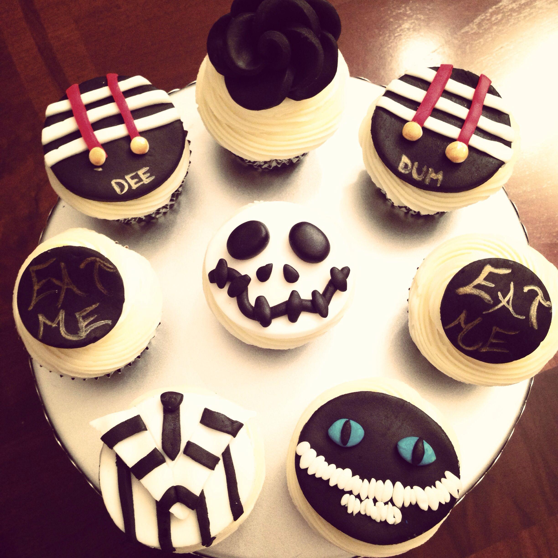 Tim Burton Theme Cupcakes