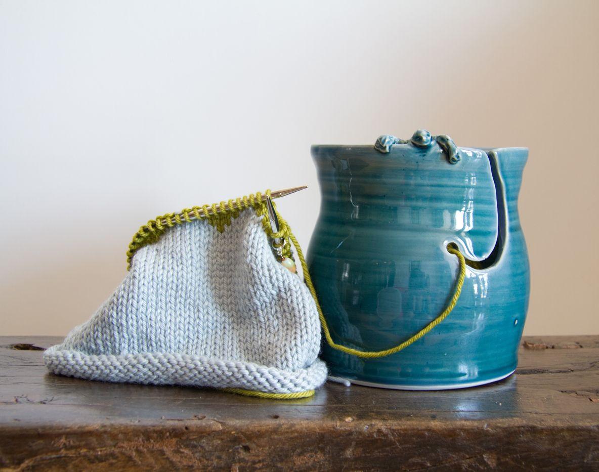 Swirly Summer Yarn Bell Summer Yarn Handmade Knitting Yarn Bowl