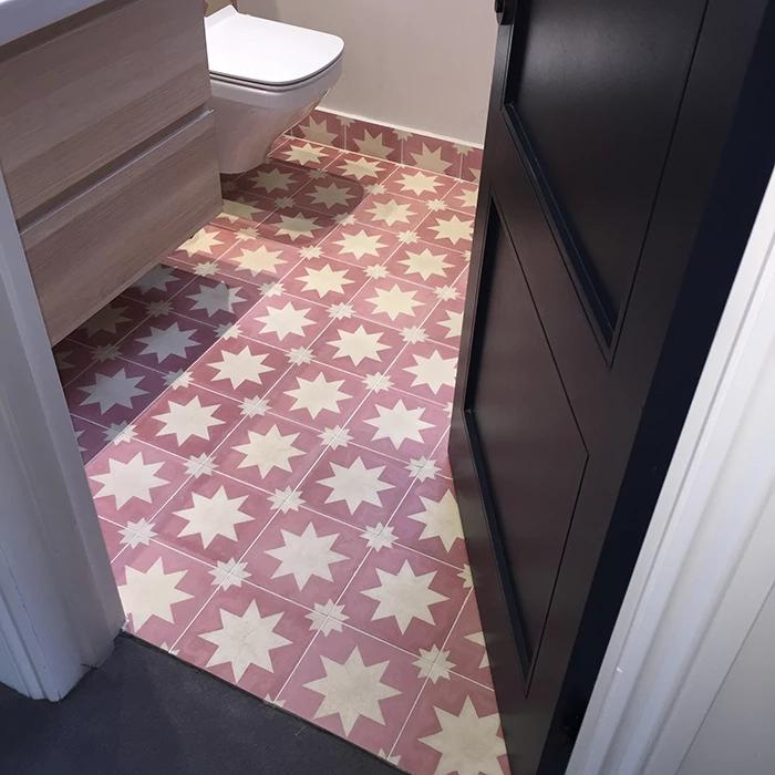 Pink Pradena Tile Tiles, Pink, Geometric designs