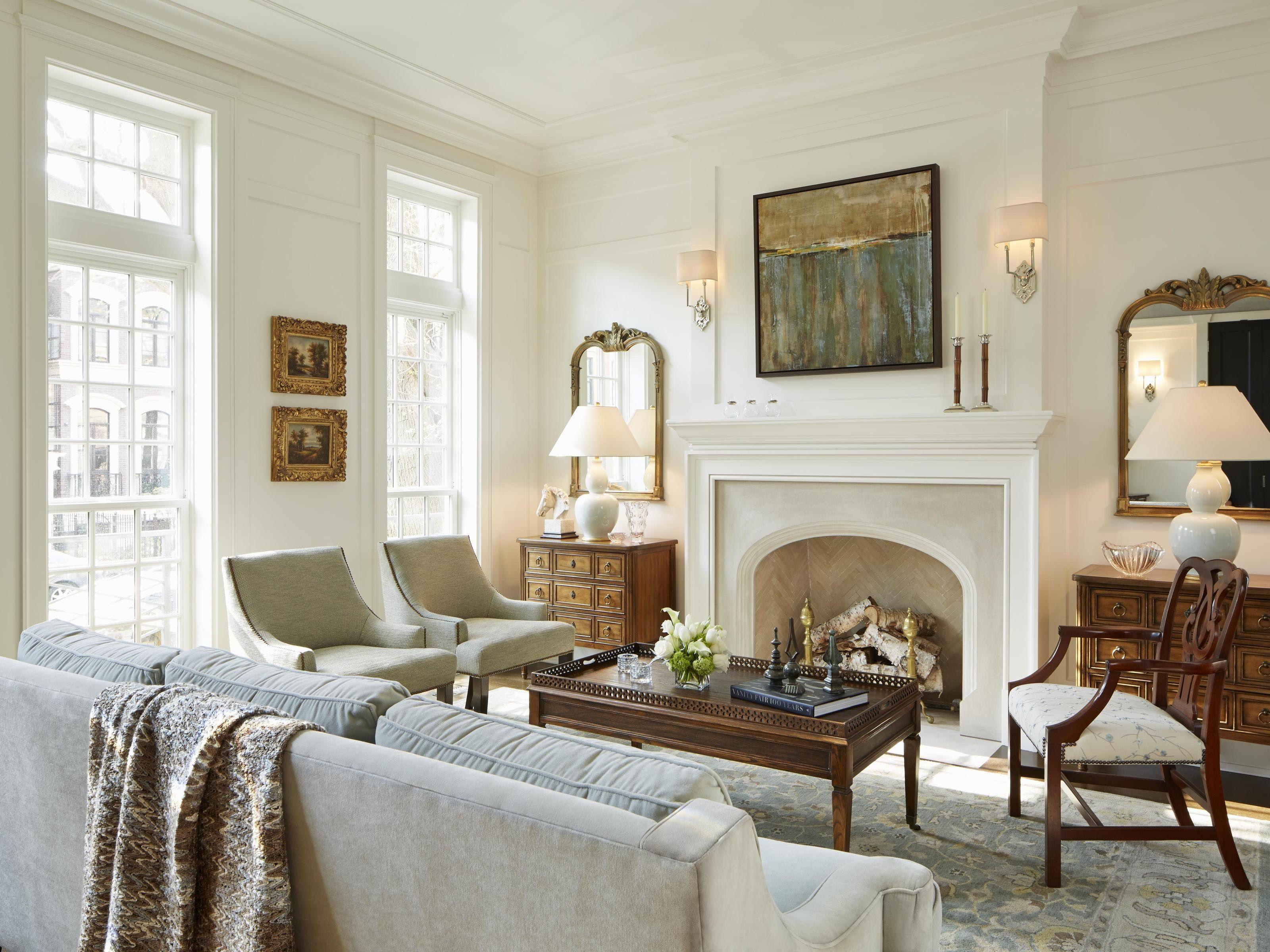 Classic Georgian Living Room With Fireplace Home Traditi