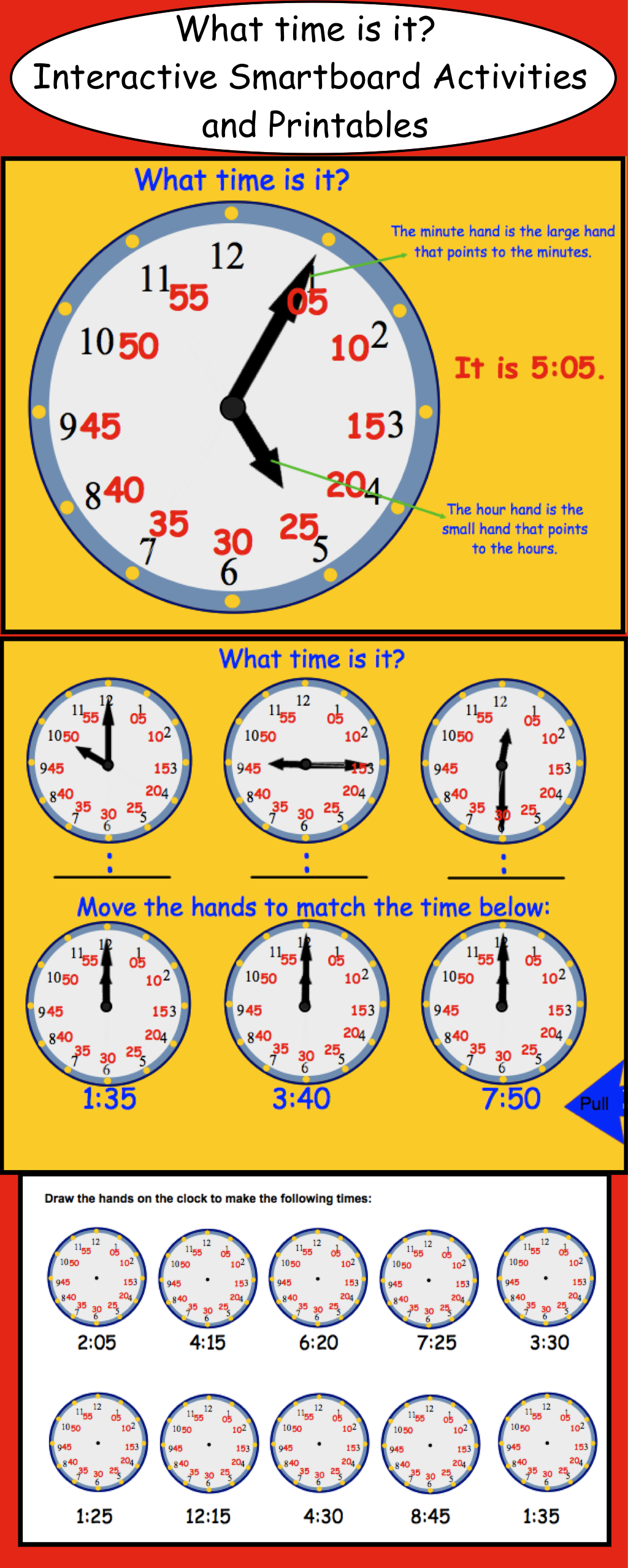 Telling Time Smartboard Interactive File Outils
