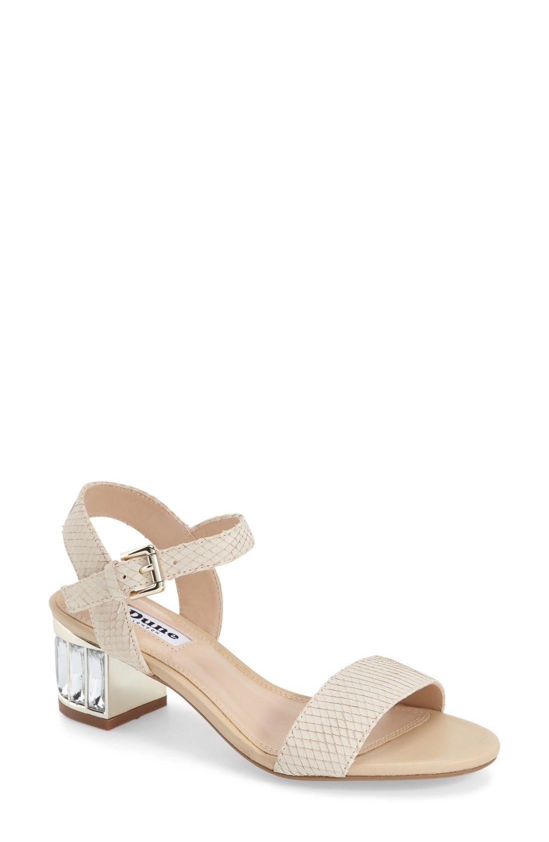 Dune London 'Maddie' Crystal Block Heel Sandal (Women)