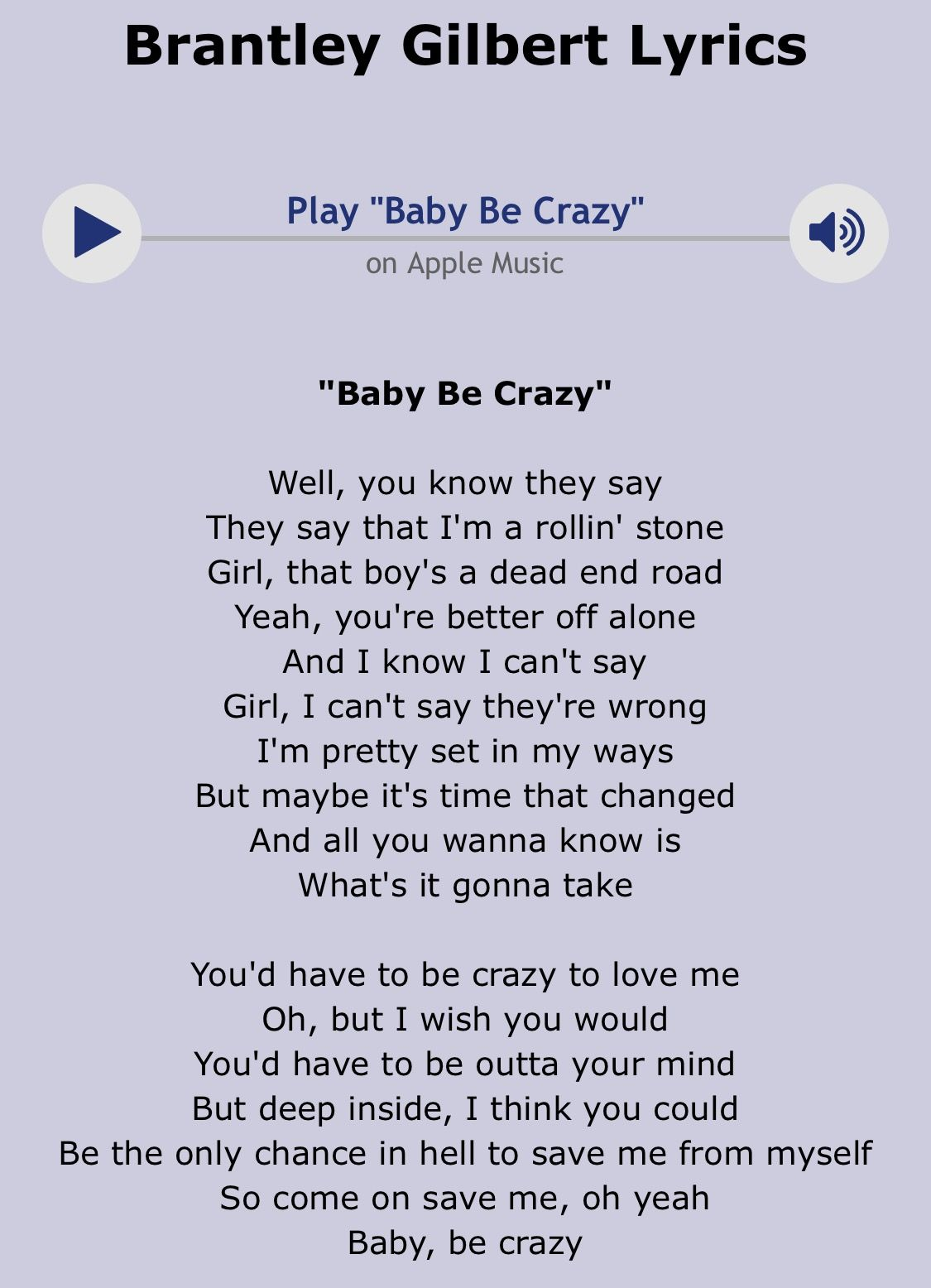 song i think you re crazy