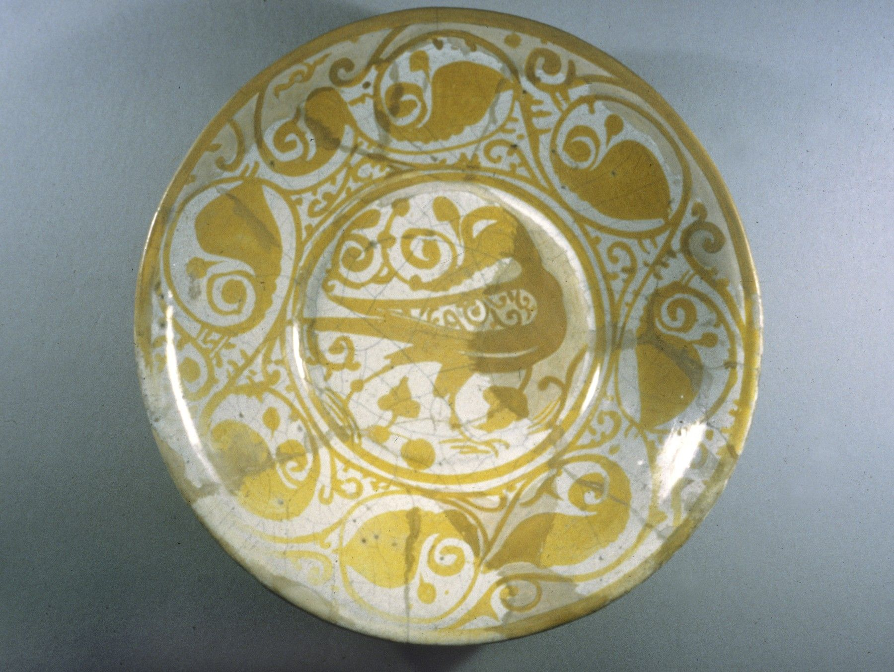 Lusterware Plate with Bird Motif, 11th century. Archaeological digs ...