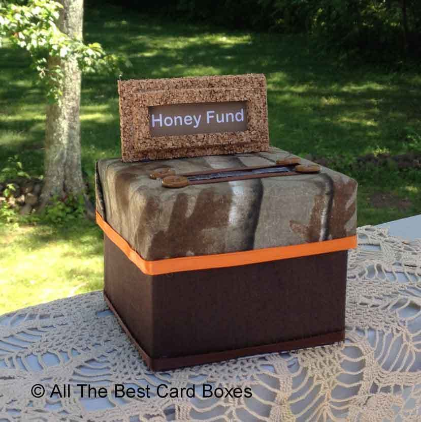 Camo Wedding,Honey Fund Box,Camouflage,Mossy Oak fabric,Brown ...
