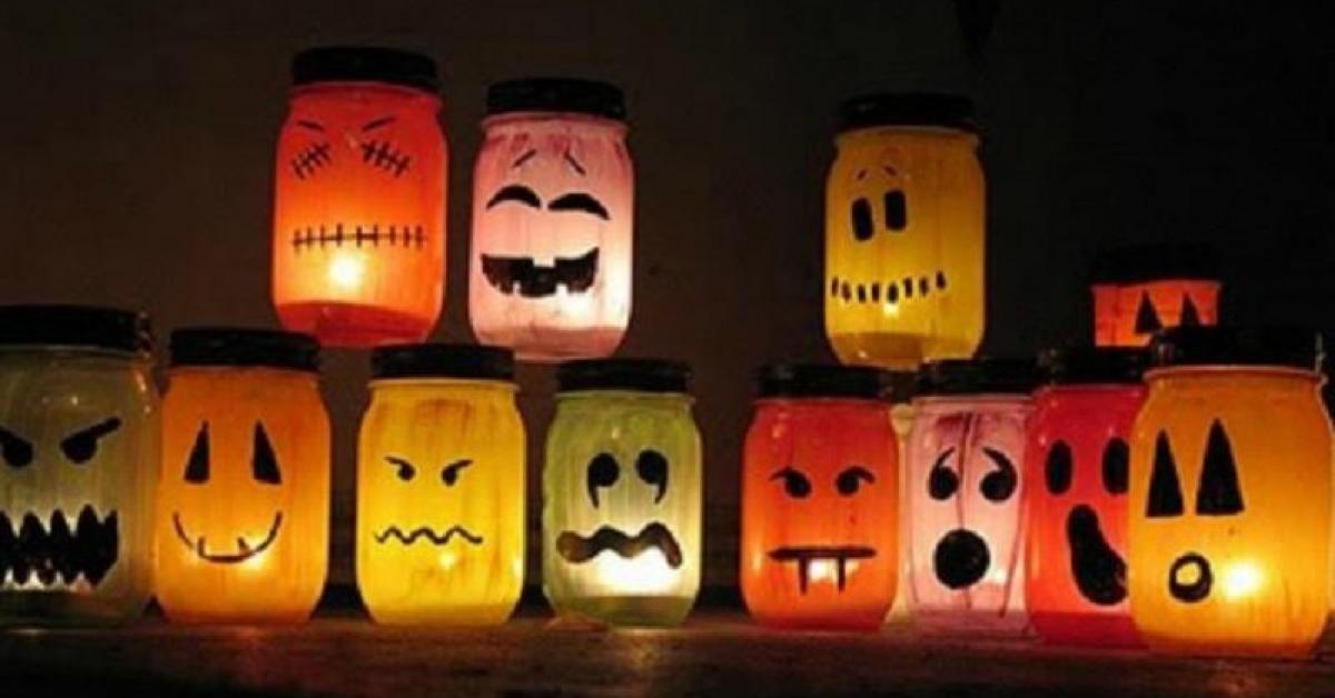 Les pots lumineux du0027Halloween!! Halloween parties