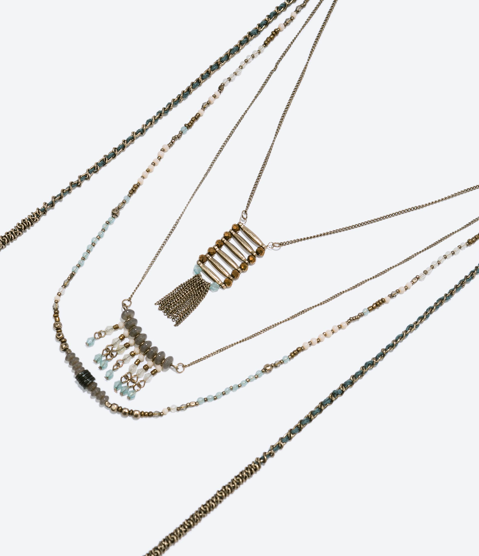 ZARA - WOMAN - FRINGED CHAIN NECKLACE