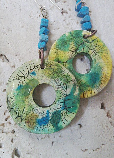 Earrings by OUT OF TIME DESIGNS | Polymer Clay Planet