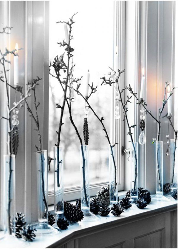noël : nos idées pour décorer votre fenêtre | rebord de fenêtre
