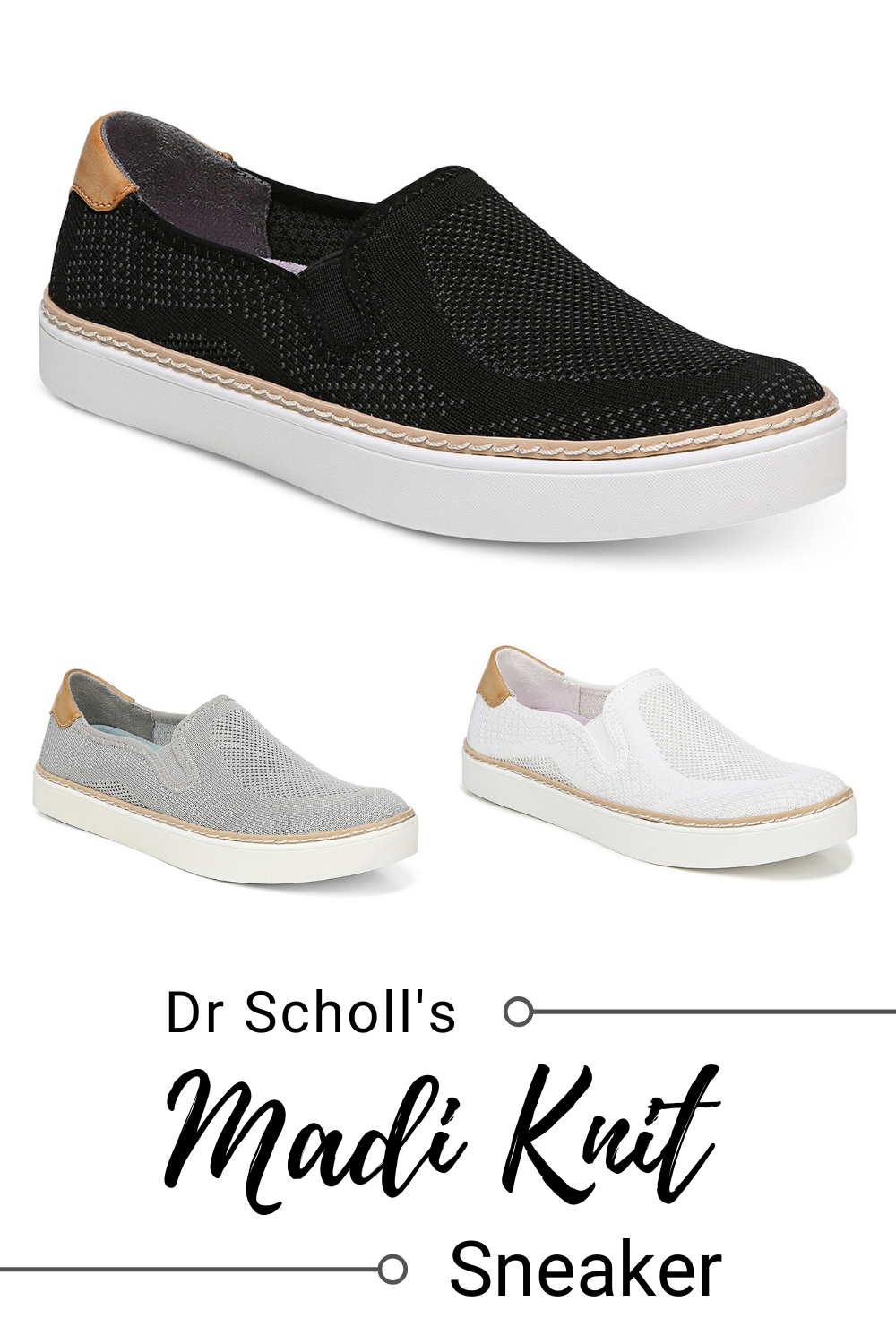dr scholl's knit sneakers