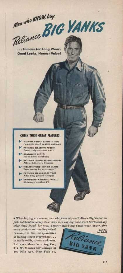 Vintage Original BIG DAM OVERALLS Advertising Poster DENIM Coveralls 1930s NOS