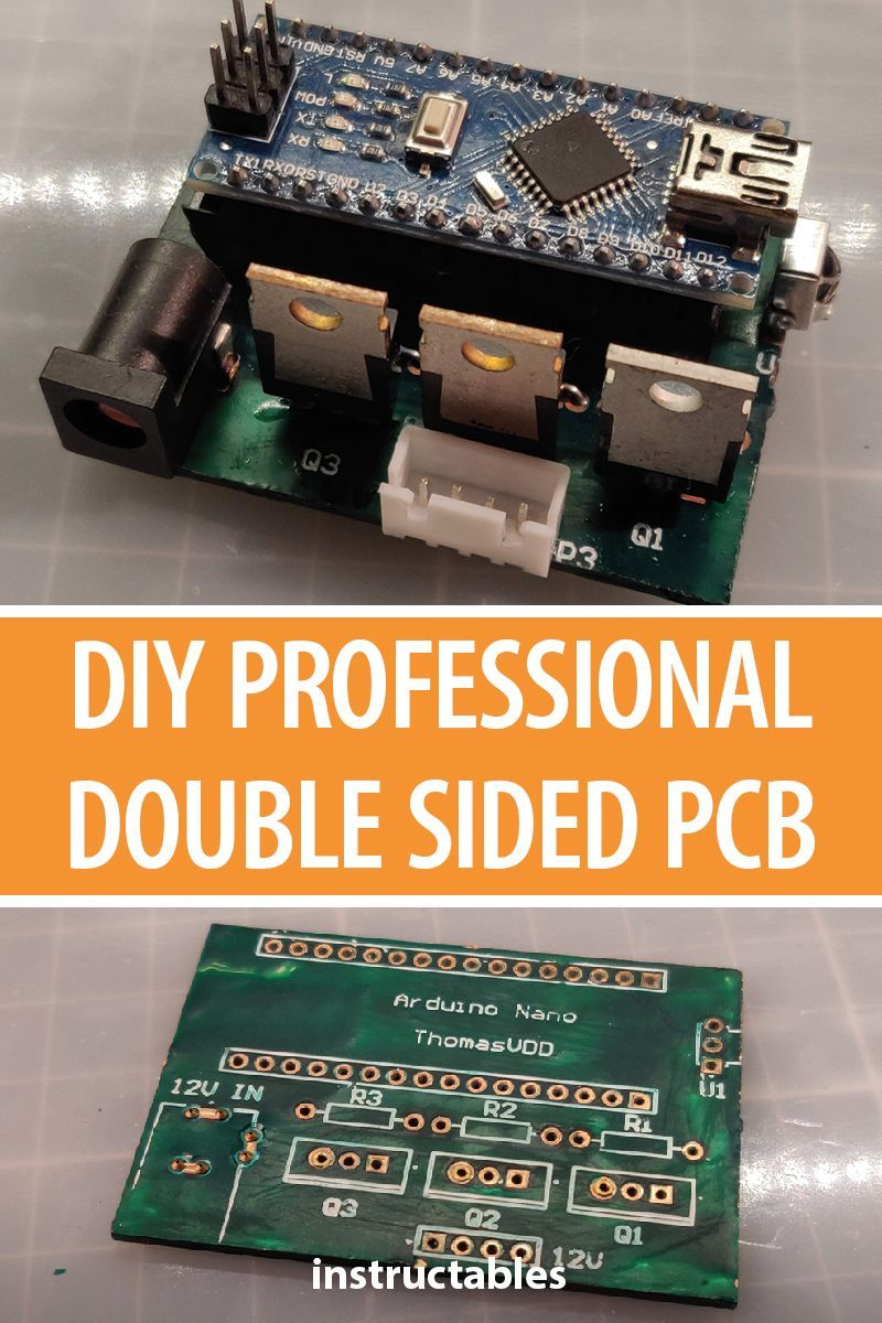 Diy Professional Double Sided Pcb Electronics Projects Electronics Projects Diy Electronics
