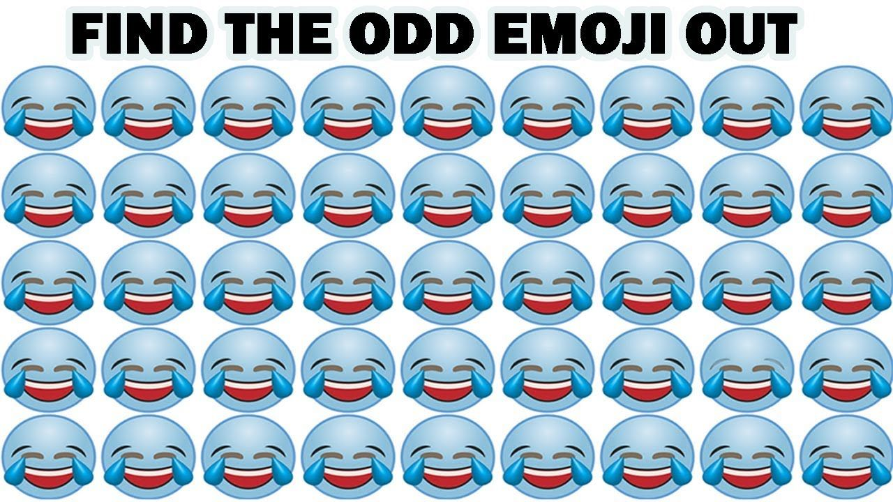 Find The Odd Emoji Out | Find The Difference | Spot Odd One Out #1 ...
