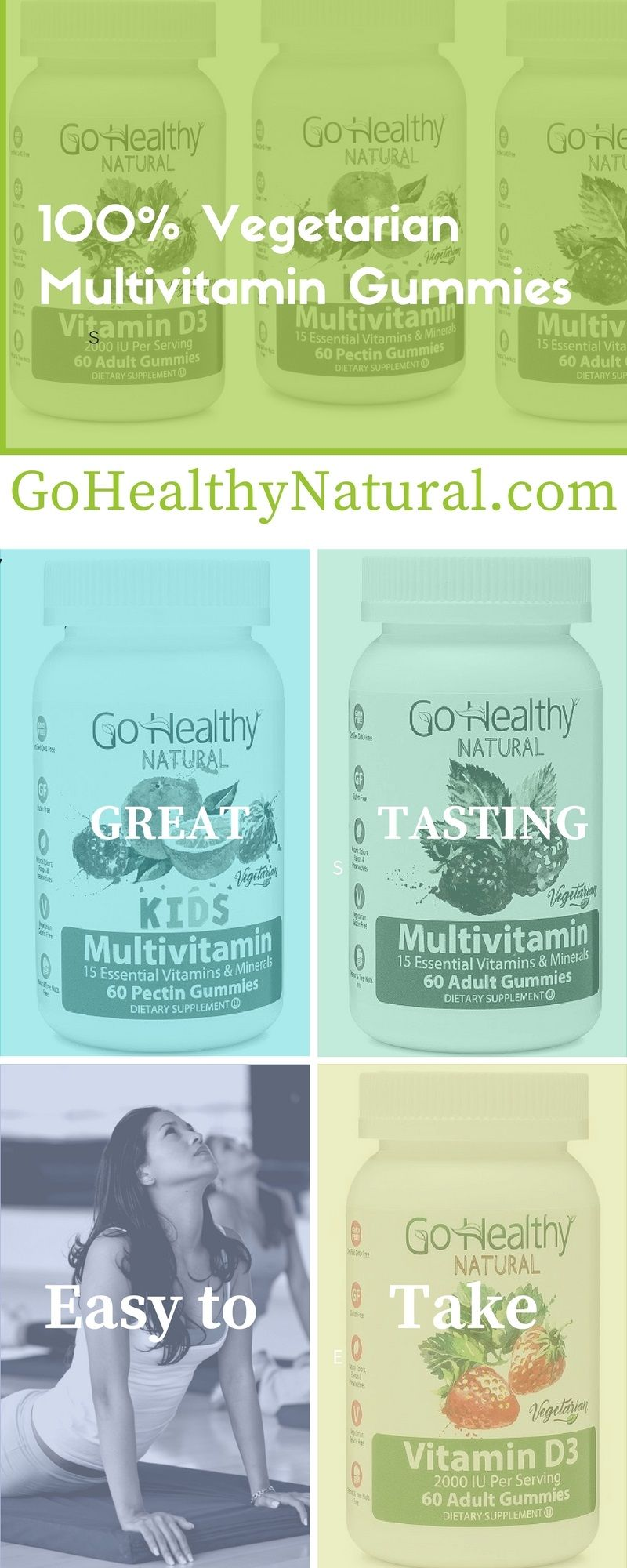 Please try our 100 vegetarian allnatural multivitamin