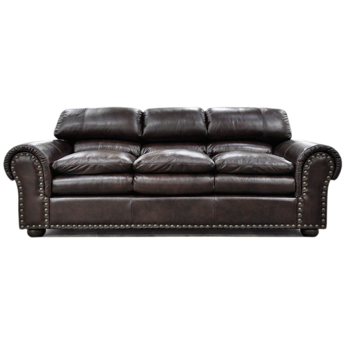 Williamsburg Sofa Full Top Grain Leather Made In California Comes In A Variety Of Shapes And Sizes Over Leather Furniture Top Grain Leather Pull Out Bed