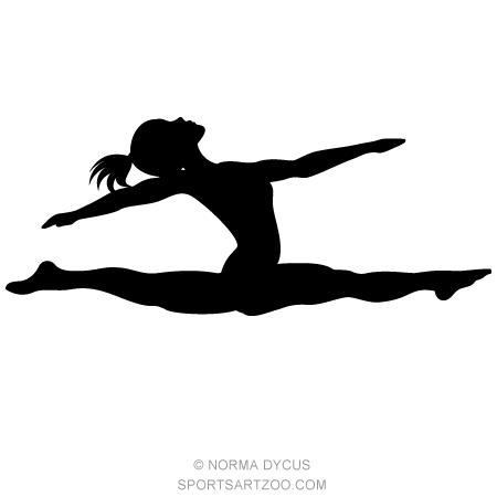 Gymnast Split Silhouette Sportsartzoo Silhouette Gymnastics Silhouette Clip Art