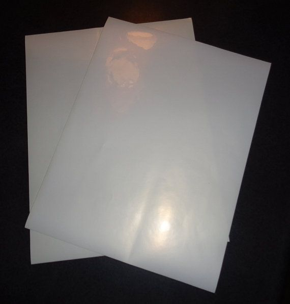 Clear Sticker Paper 8 5 X 11 Inkjet Printer Etsy Clear Sticker Paper Clear Stickers Sticker Paper