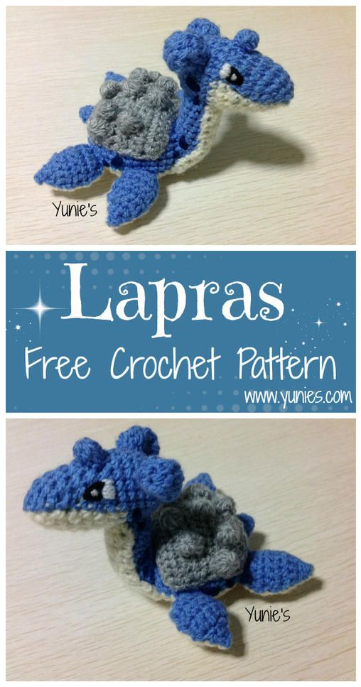 Free Lapras (Pokémon) crochet pattern with pictures. A free ...