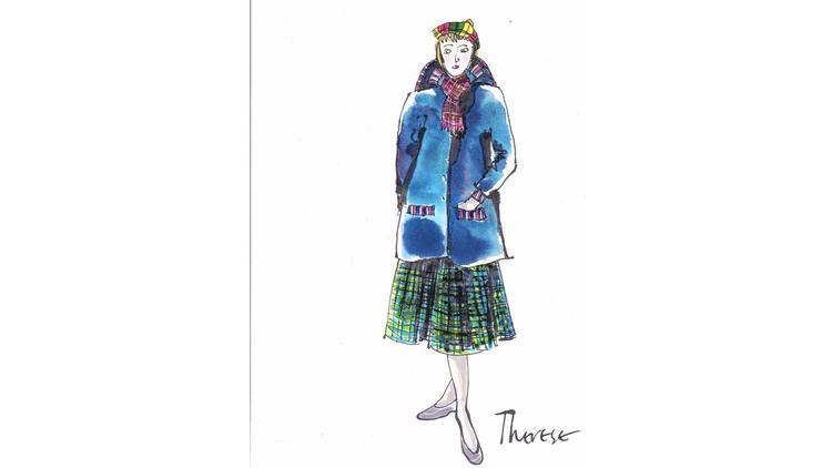 "A sketch of Therese for ""Carol"" aka Rooney Mara"