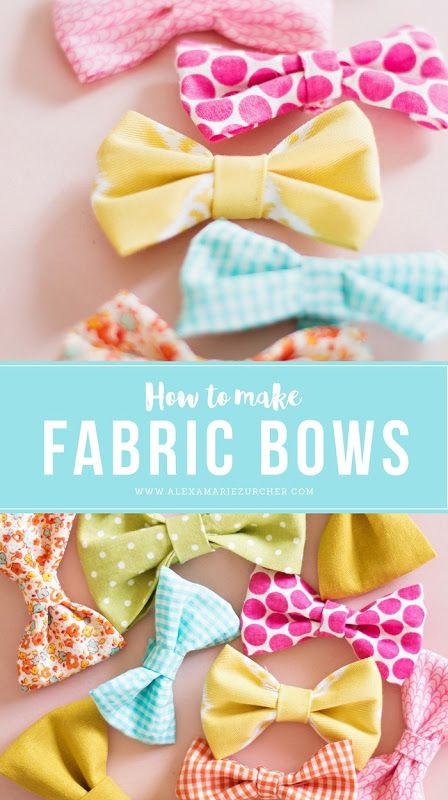 How To Make Fabric Bows Capturing Joy Team Pinterest