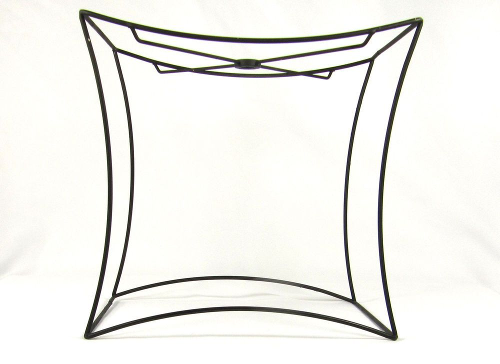 Lamp shade wire frame for table lamp cube 4 sided custom made black lamp shade wire frame for table lamp cube 4 sided custom made black greentooth Gallery