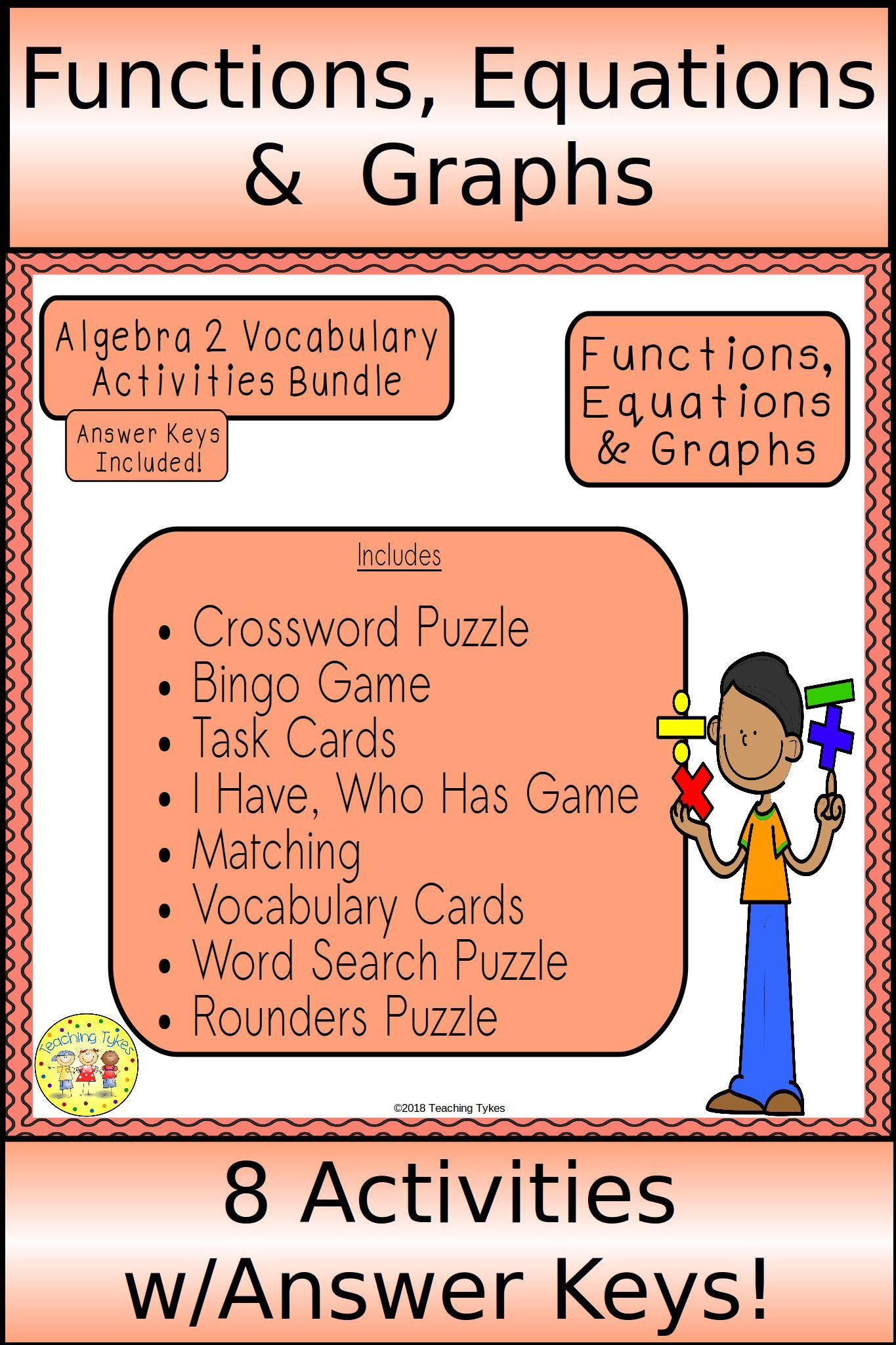 Functions, Equations, and Graphs Algebra 2 Bundle | Algebra 2
