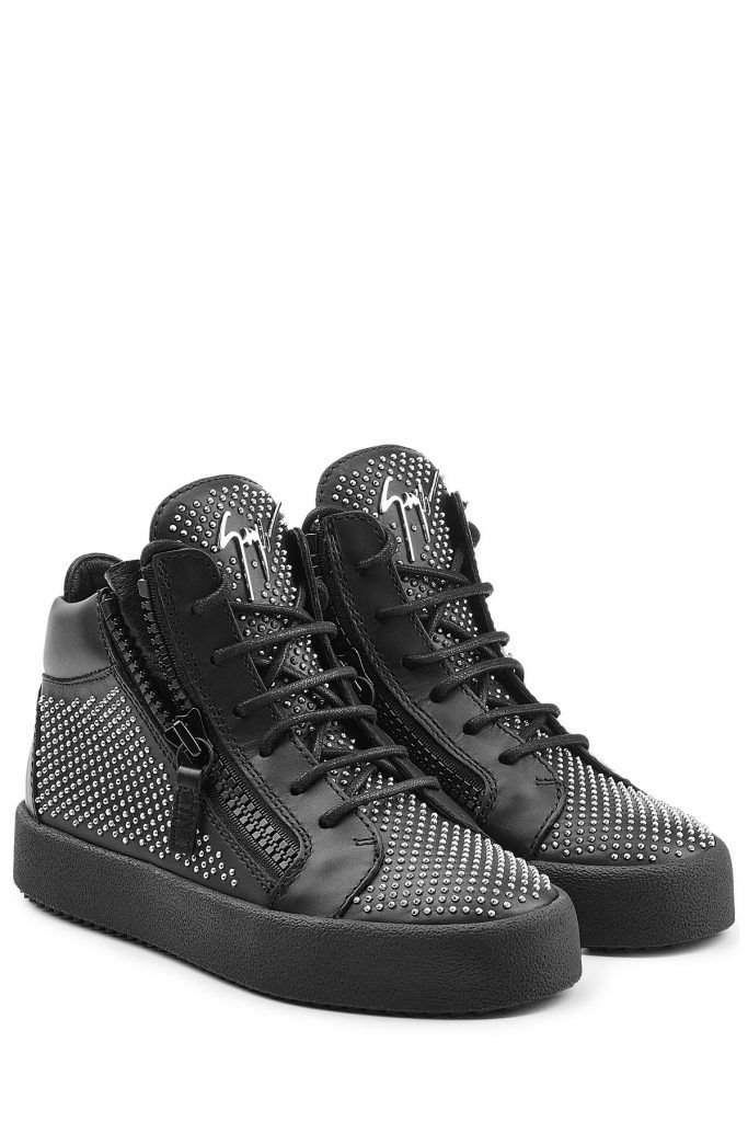 brand new a3a47 c1998 Giuseppe #Zanotti #High, #Top, #Sneakers aus #Leder mit ...