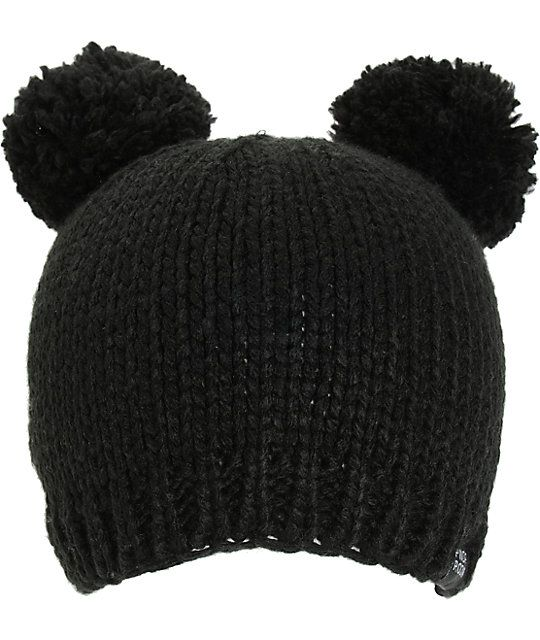 fd0d9155f808d PWDR Room Black Double Pom Beanie