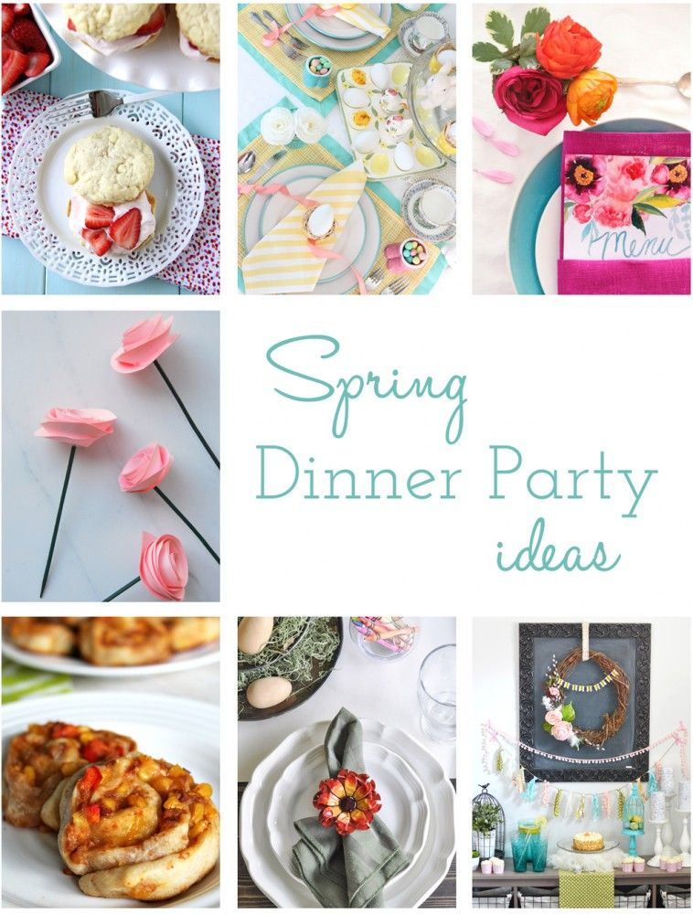 Marvelous Spring Dinner Party Ideas Part - 8: A Fresh U0026 Happy Spring Dessert Table + More Spring Dinner Party Ideas | The  DIY