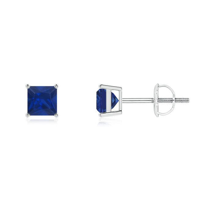 Angara V-Prong Princess Diamond Basket Stud Earrings gQBRN1H