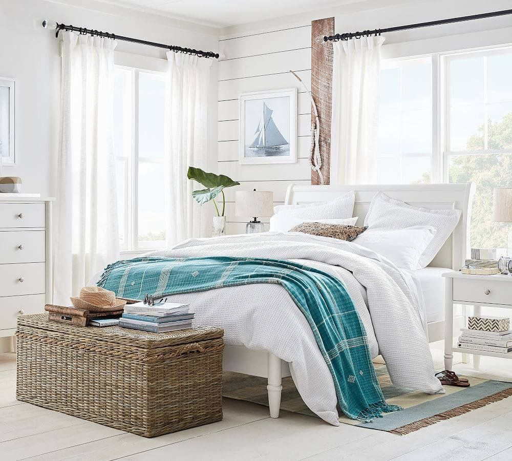 Pottery Barn Beach furniture decor, Beach bedroom decor