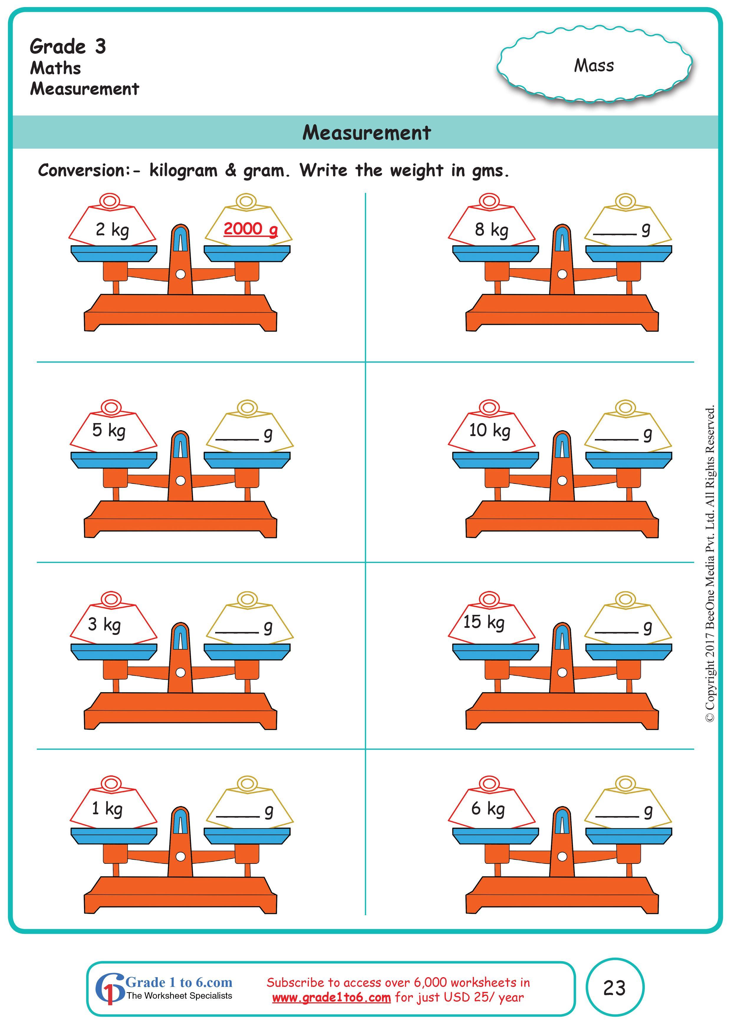 Measurement Grade 3 Math