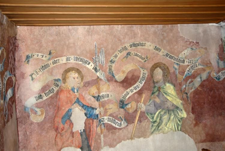 Muttenz Online: Photo Gallery St. Arbogast Church wall paintings