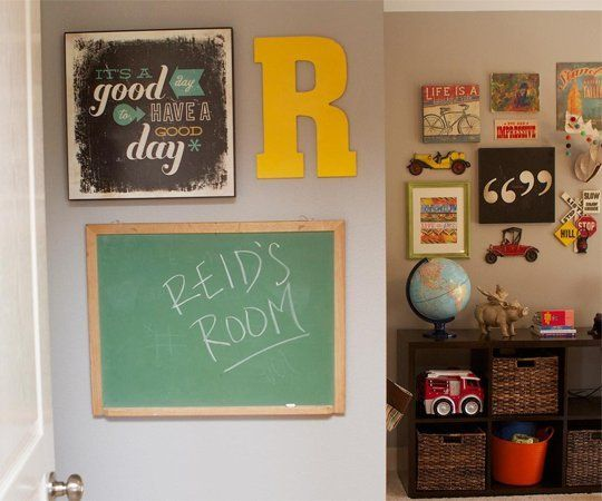 "Name: Reid (2) Location: Jefferson City, Missouri For our son's ""Big Boy"" room, we wanted an eclectic mix of old and new. We scoured our local antique shops for stuff that screamed ""All Boy!"" to us."