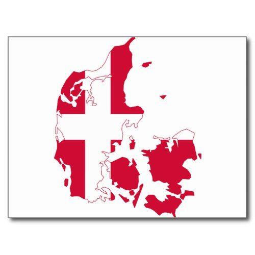 Denmark Flag Map Dk Postcard Zazzle Com In 2020 Denmark Flag Map Poster Danish Flag