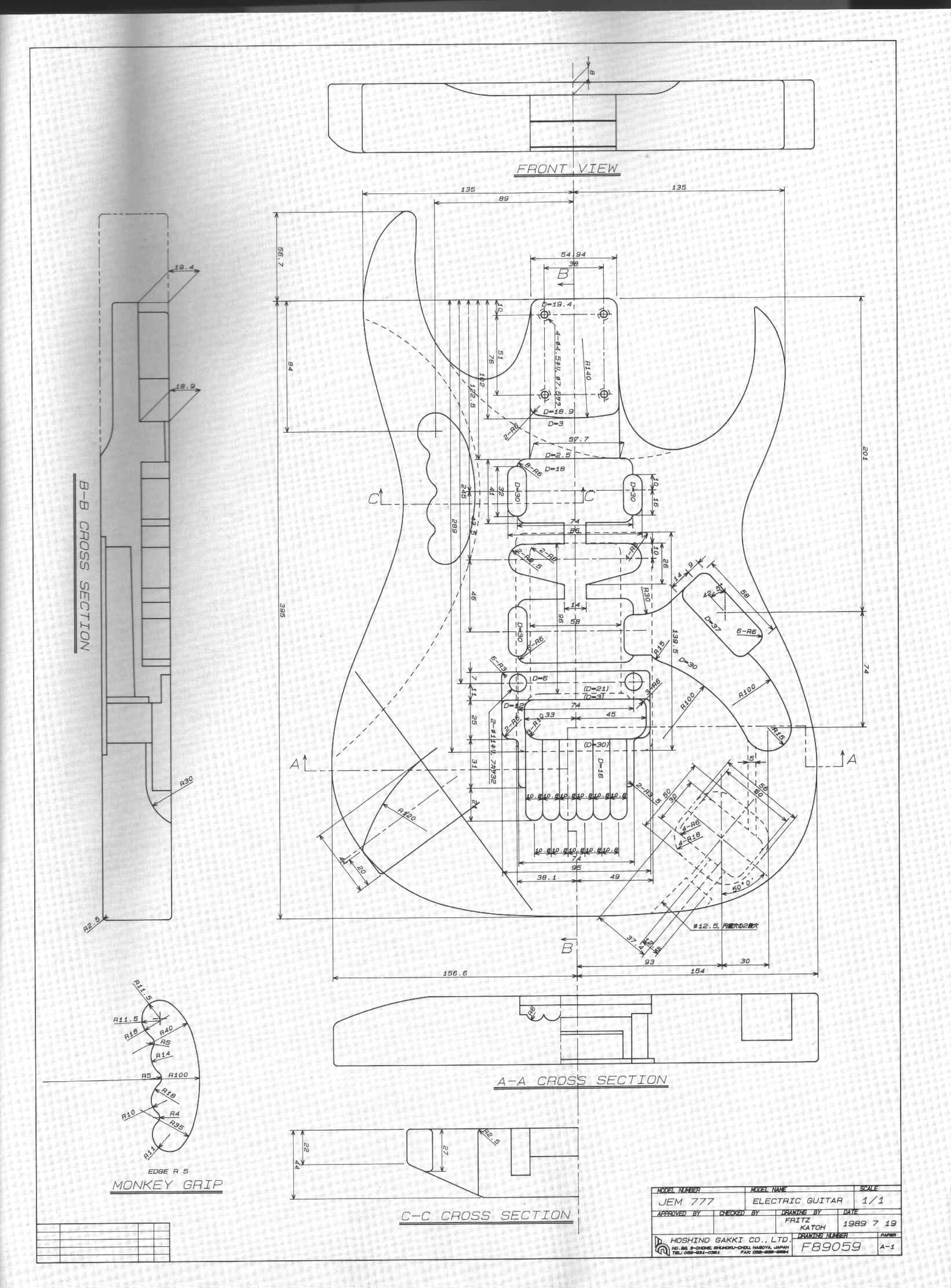 Les Paul Body Template Printable