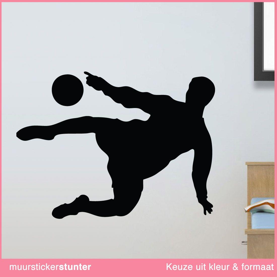 Muursticker voetballer omhaal | Pinterest - Kinderkamer, Kleur en ...