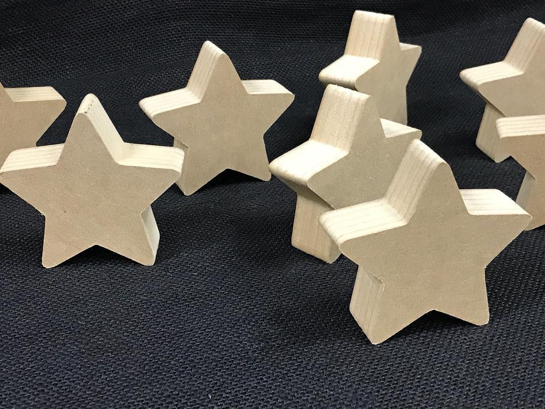 30x Madera Estrella formas Corte Láser MDF En blanco Adornos Arte Manualidades