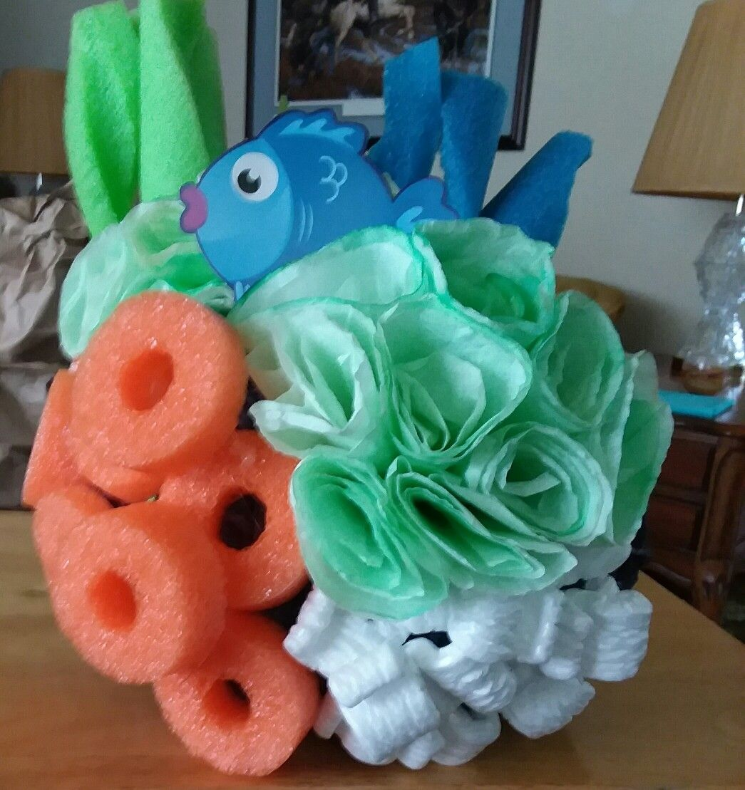 Sea Coral Made Out Of Coffee Filters Pool Noodles Packing