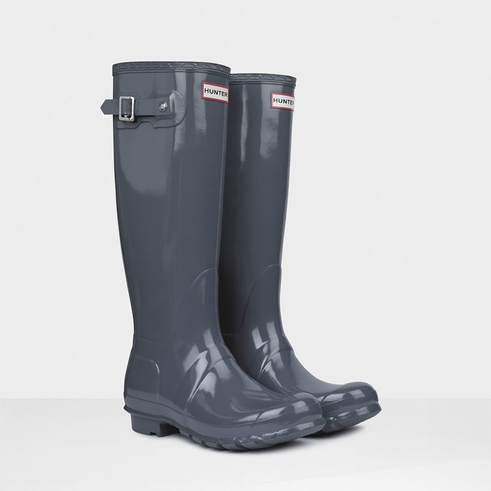 Giving fashion the boot Original Tall Gloss Rain Boots  Hunter Boot Ltd  in graphite