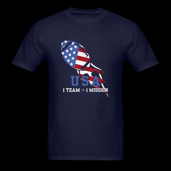 Gina OBrien Creative Patriotic Football USA TShirt