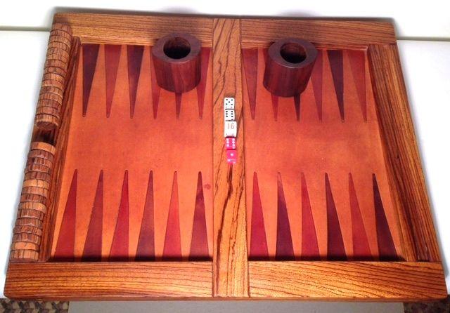 Backgammon Zebrawood Set