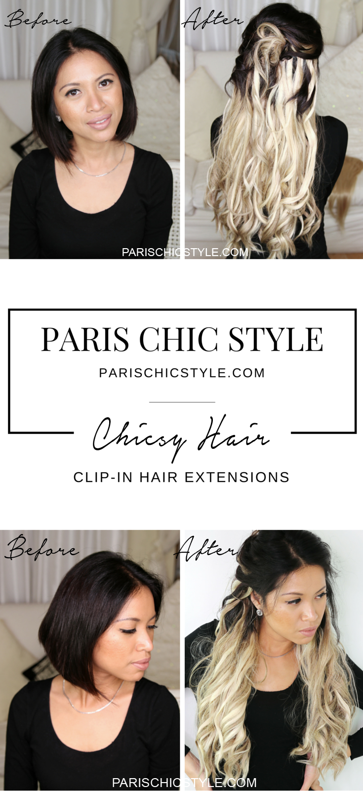 Instantly Transform Your Hair With Chicsy Hair Clip In Hair Extensions At Chicsyhair Com Get Longer Chic Clip In Hair Extensions Hair Affair Hair Extensions