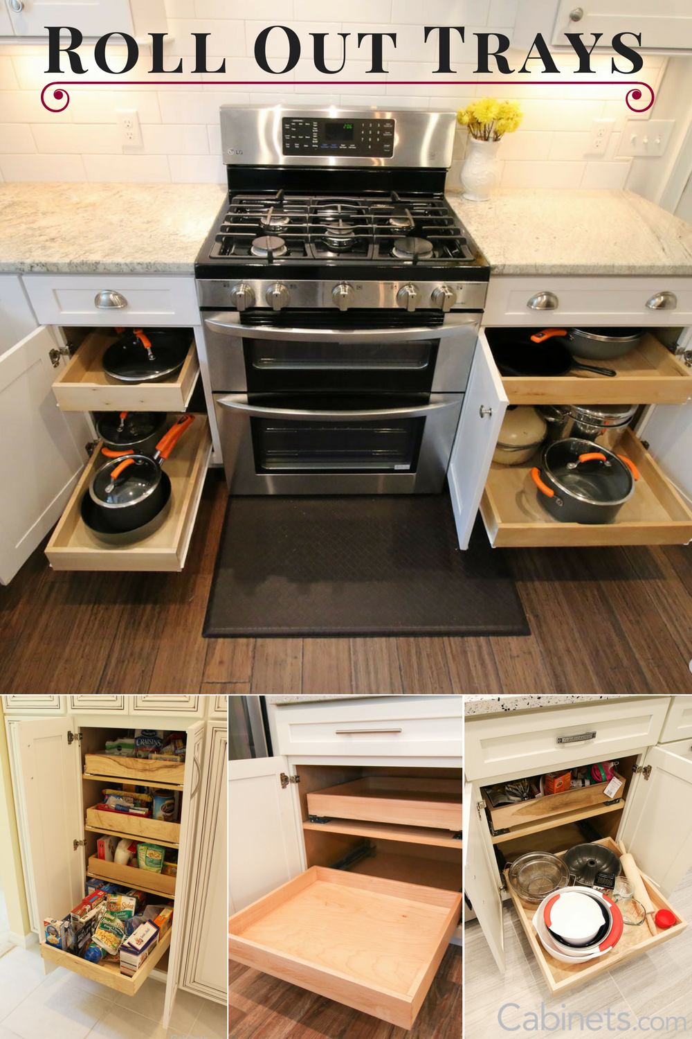 One of our most popular cabinet upgrades is to add a rollouttray